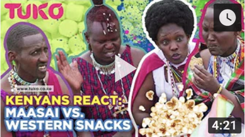 Tuko Reactions: Maasai People React to Western Snacks
